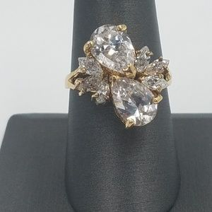 Jewelry - 925 Sterling Silver and Simulate Diamonds Ring